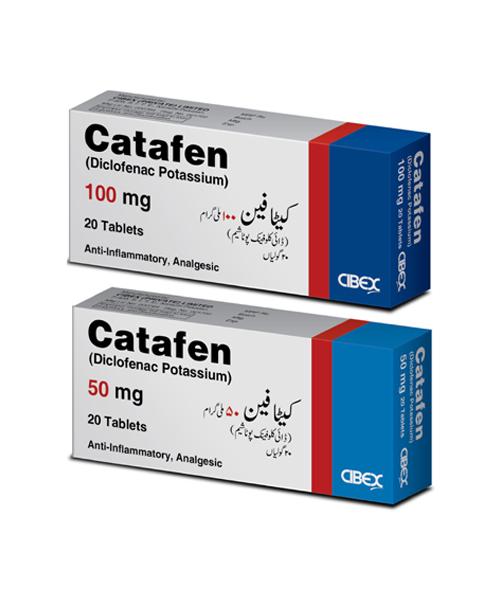 Catafen Diclofenac Potassium 50mg 100mg Tablets Cibex